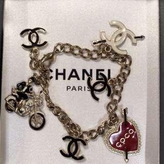真品Chanel二手情人節限量版手鏈