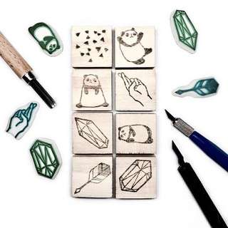 Customisable Rubber Stamps [Wood Mounted]