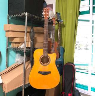 Brand new solid TOP electric acoustic guitar