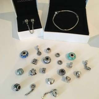 Pandora moments bracelet with charms