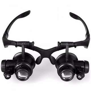 Kacamata pembesar hingga 25x plus LED