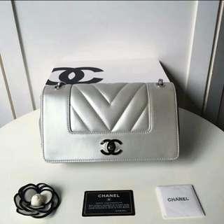 Chanel 💖V紋牛皮😁原單~ 頂級👍