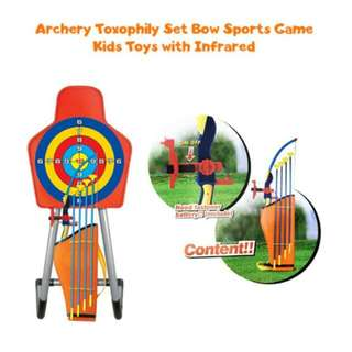 FREE POS Ready Stock Archery Toxophily Set Bow Sports Game Kids