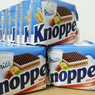 【KNOPPERS】牛奶榛果巧克力威化餅 超好吃