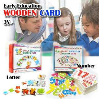 Early Education Wooden Card ~free postage~