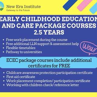 Early childhood education and care package courses
