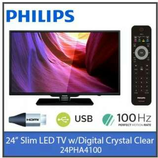 "Philips 24"" LED TV. Model: 24PHA4100. BNIB.  Unopened and sealed. 1 year warranty."