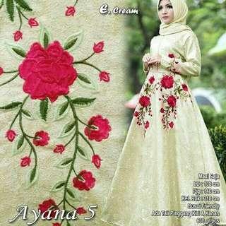 Ayana cream dress pesta