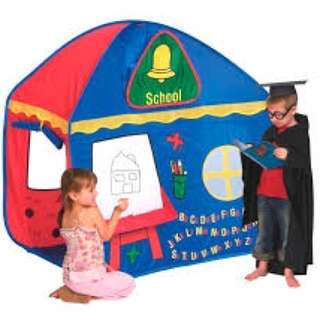 Pretend play tent school