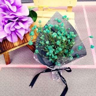 Green Baby's Breath Bouquet Box