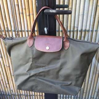 Longchamp dark green bag