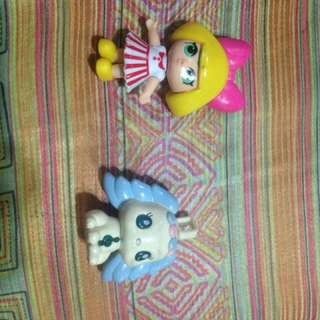LOL Doll toy and a LPS Dog toy