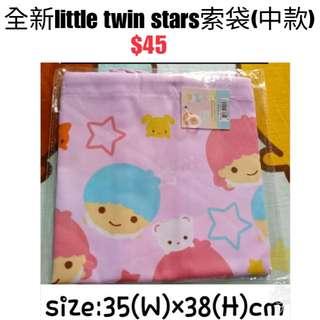 全新little twin stars索袋(中款)