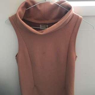 Salmon Pink Turtle Neck Dress Size 6