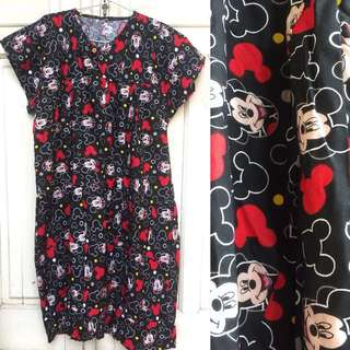NEW Daster Katun Mickey Mouse