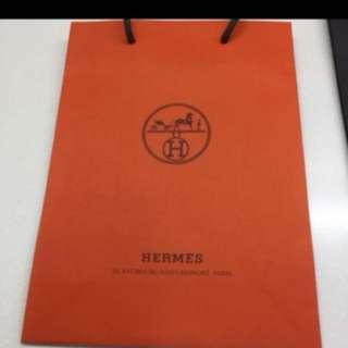 Hermès brand Paper Bag