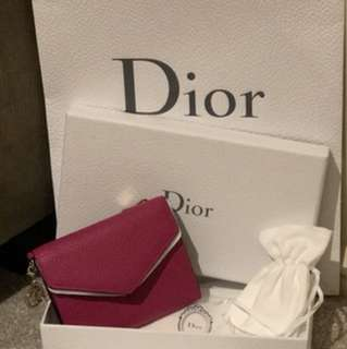 Authentic Diorssimo Pink Wallet NEW