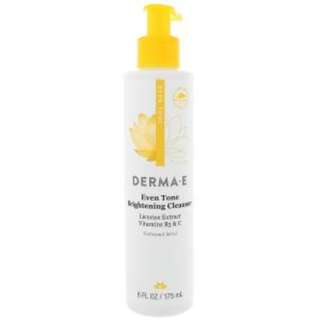 Derma E, Evenly Radiant Brightening Cleanser with Vitamin C, 6 fl oz (175 ml)