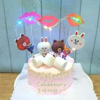 Line brown and cony cake