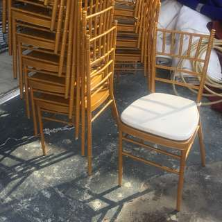Gold/White Tiffany Chairs for Rent