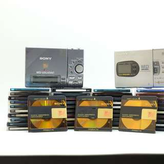 Sony Walkman MZ-R3 & MZ-R35 and 53 minidisc