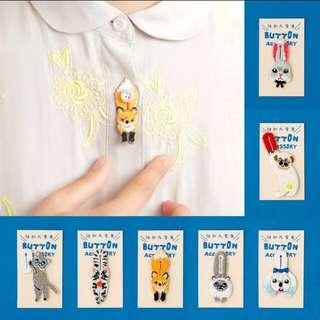 日本流行刺繡扣子裝飾預售