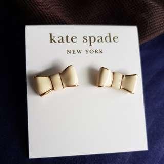 Kate spade Earrings cream ribbons