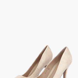 Boohoo nude high heels size8