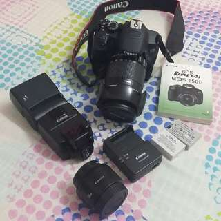 canon eos 650d body only with bag