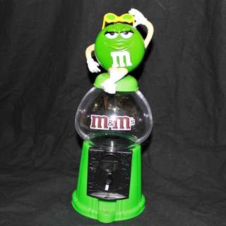 Ms. M&M's Candy Gumball Dispenser Bank