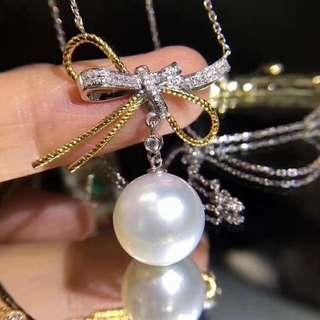 🆕️新穎設計的純銀🎀愛迪生12mm珍珠吊墜。
