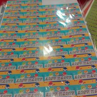 Label Sticker Nama + Kartun