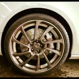 20 Inch Original ABT DR Rims with 4 months old  Pirelli P-Zero Tyre