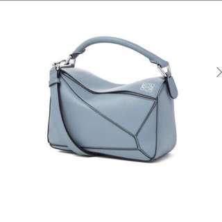Loewe Puzzle Bag S size🌷Stone Blue 閒置未被做用過 100%新