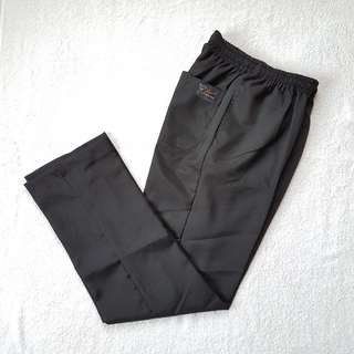 Garterized Black Slacks