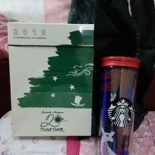 Starbucks 2018 Planner and Tumbler