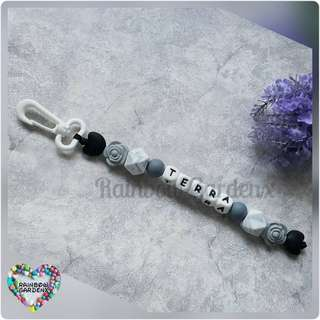 Handmade Customized bag chain / keychain with letter beads