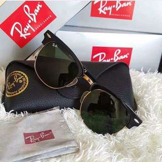 Authentic Rayban Clubmaster Sunglasses  RB3016
