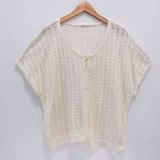 AL320 OUTER PREMIUM LACE CREAM CINEMA CLUB RENDA BAGUS IMPOR MURAH