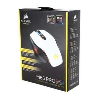 Corsair M65 PRO RGB FPS Gaming Mouse — White (AP) (CH-9300111-AP)