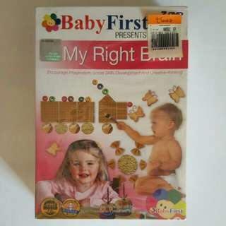♷Brand New Baby First Presents My Right Brain DVD