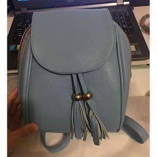 藍色休閒後背包(附防塵袋)