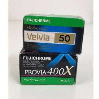 Fujichrome Velvia 50 & Fujichrome Provia 400X (35mm)