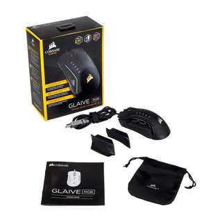 Corsair GLAIVE RGB Gaming Mouse — Black (AP) (CH-9302011-AP)