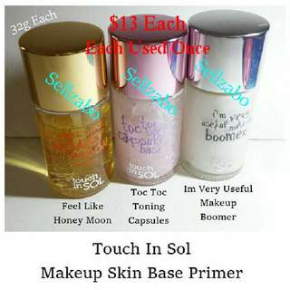 "Used ""Touch In Sol"" Face Primers Bases"