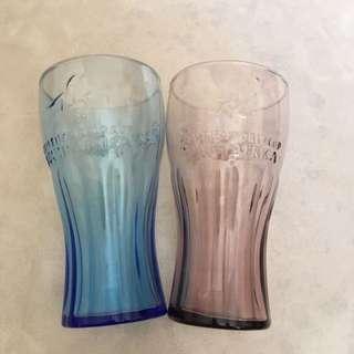 100% New coca cola glasses 2 pcs