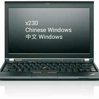 💻Lenovo X230 💻 i5 + 4GB + 500GB + Windows 7 Pro Chinese中文