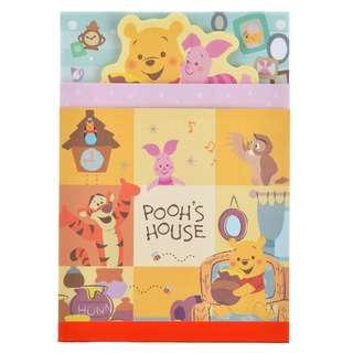 日本 Disney Store 直送 Winnie the Pooh 小熊維尼 Pooh's House 系列便條簿