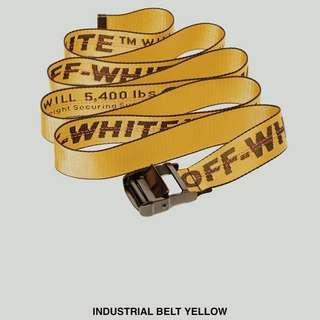 Offwhite yellow belt