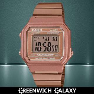Casio Square Vintage Rose Gold Watch (B650WC-5A)